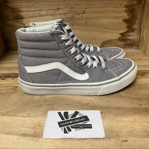 Vans Off the Wall High grey white skate sneakers shoes